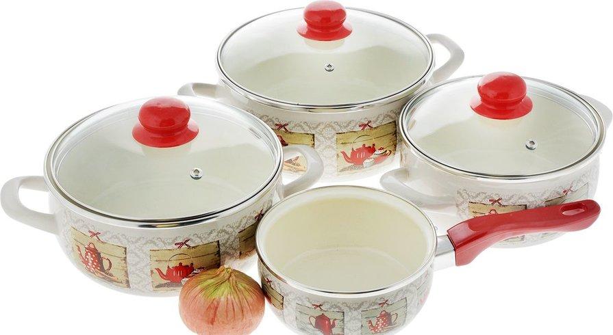 лучшие наборы эмалированной посуды