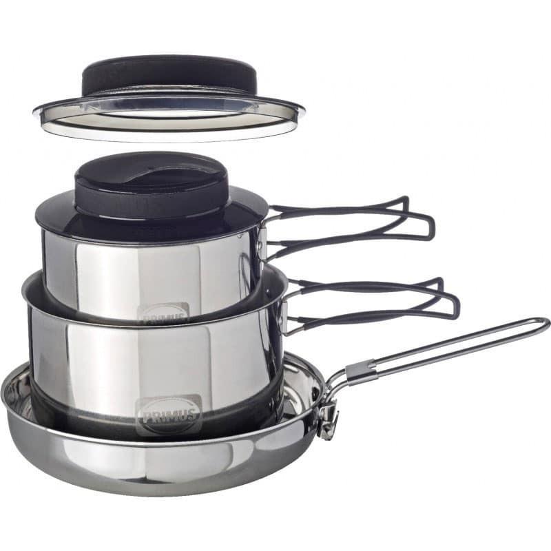 классический набор посуды для туризма